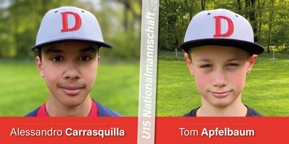 Nachwuchs: Alessandro Carrasquilla und Tom Apfelbaum für die U15 Nationalmannschaft nominiert