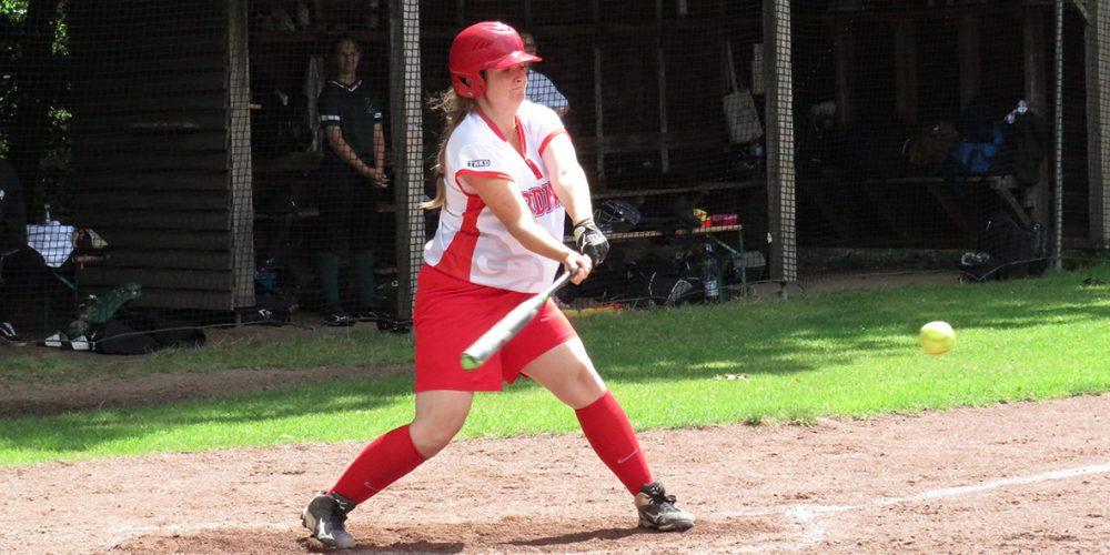 Ein Split für die Softball-Damen
