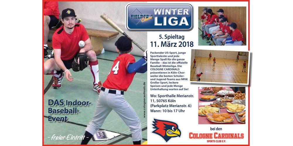 Cardinals starten am Sonntag in die Winterliga-Saison