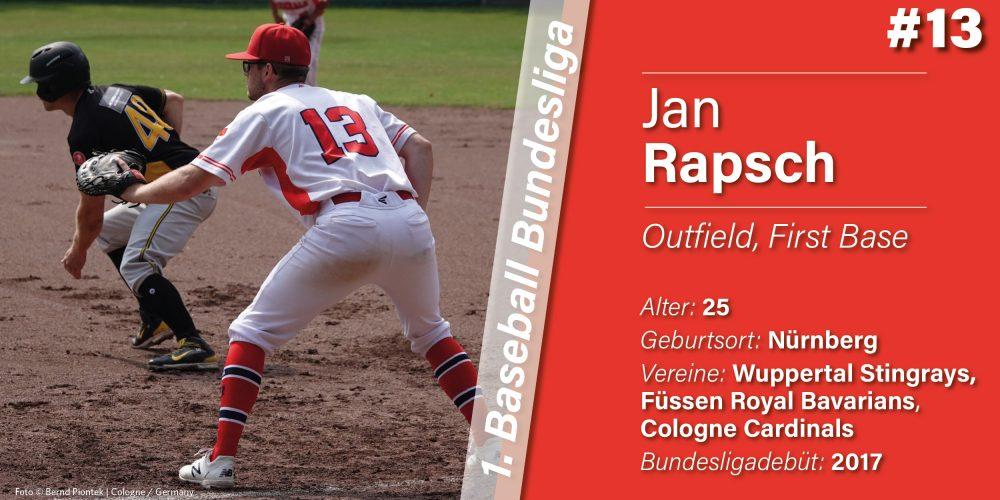VORSTELLUNG DER SPIELER: JAN RAPSCH