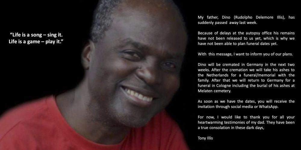 A Message from Tony Illis